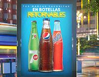 Afiche Botellas Retornables Pepsi