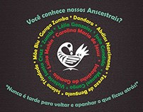 Cartaz da performance Da Cor de Azeviche