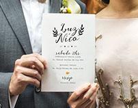 Invitaciones de Boda - Luz & Nico