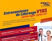 Flyers para eventos de Impacto Vital México
