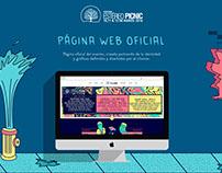 Landing y Website OFICIAL Festival Estereo Picnic  2016