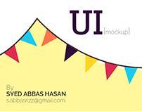 UI [mock up] design for a freelancer contest.
