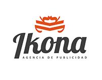 """Logotipo y Pagina Web """"Ikona agencia de publicidad"""""""