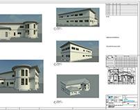 Projeto detalhado e renderizado no revit