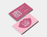 Kelly Vilelva   Logo Design   cartão de visitas