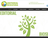 editorialbiosfera.com, Sitio Web basado en WordPress
