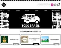 Home Page do E-commerce www.arteemcortes.com.br