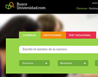 Buscouniversidad Usability analysis / Web redesign