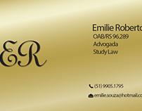 Cartão de visita para Advogada