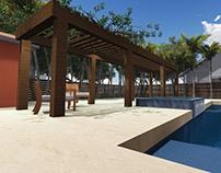 Diseño de patio exterior para vivienda en Miami Florida