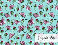Delicate Floral Pattern - Ilustração Manual
