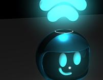 Modelagem em 3D - mascote da Ar7 Digital