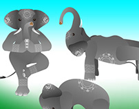 yoga elephants