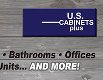 U.S. Cabinets Plus - Logo - Business Card - Postcard