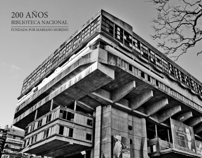 Postcard for the National Library of Buenos Aires