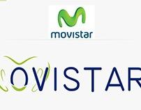 """""""Trabajo personal"""" Síntesis de logo Movistar"""