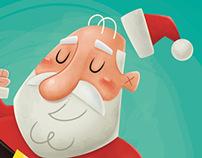 Santa Soccer Player