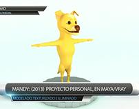 Personaje orgánico 3D - Con efecto de pelos - Mandy