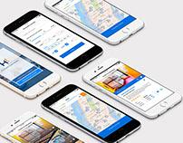 Hostel Finder iOS -  Adobe XD