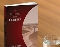 Book cover mockup for El Libro de la Certeza, Ebila