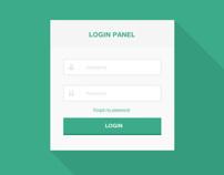 Login panel