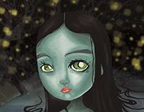 Ilustración Digital    Ninfa