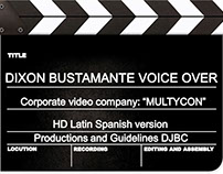 Corporate voice, video Promotional MULTYCON MEXICO