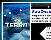 Banner Interativo Planeta Terra