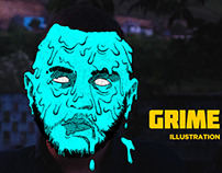 GRIME ART | Illustration Process