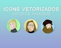Icons vetorizados de artistas famosos