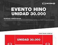 Hino Colombia - Evento Unidad 30.000 - Piezas Gráficas
