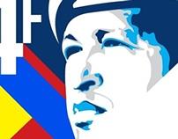 Diseño conmemorativo en honor a Chávez