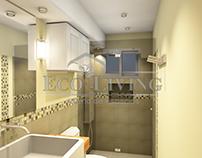 Small Bathroom Interior Rendering