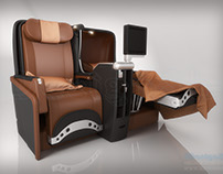Iberia Business Class Seat Modellling and Rendering