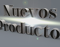 "3D Text ""New Products"" / Global Lighting for More Real"