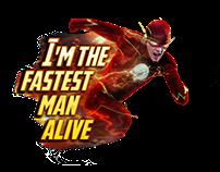 Estampa de Camisa Flash