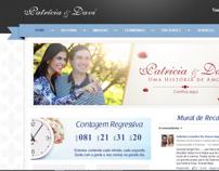website casamento de Patricia e Davi