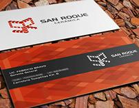 San Roque Ceramics \ business card + isologo design