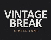 VINTAGE BREAK | SIMPLE FONT
