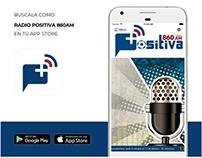 Aplicación Radio Positiva 860 am Quito Ecuador