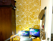 Mandala wall painting