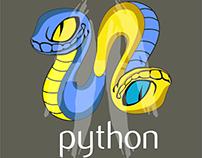 Cartoon python