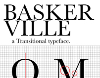 A typography poster: Baskerville.