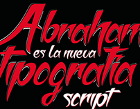 Cartel tipográfico lettering