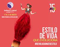 Piezas  digitales para Feria Belleza y Salud 2016