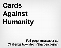 Ad idea - Cards Against Humanity
