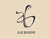 Catálogo para el artista Alan Brignone. Sta Fe.