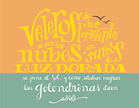 Lettering 'Las Golondrinas'