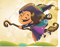 Ilustração do Livro infantil Nina e o Arco-íris