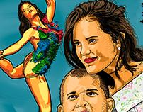 Desenho Digital de Paloma e Nekinho